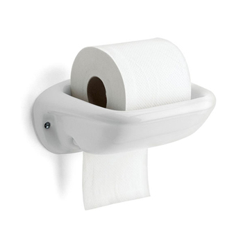 Classical white bathroom ceramic toilet paper holder
