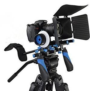 Matte Box Follow Focus Adjust Platform+ C Shape Support Cage +Top Handle for All DSLR Cameras and Video Camcorders Morros Pro DSLR Rig Movie Kit Shoulder Mount Rig