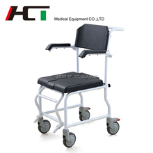 Elderly Childern Pregnant Women Commode Chair Hospital Durable Toilet Soft Seat Shower Commode Chair With Bedpan