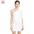 New Design Bodycon Women One Shoulder Casual Mini Dress