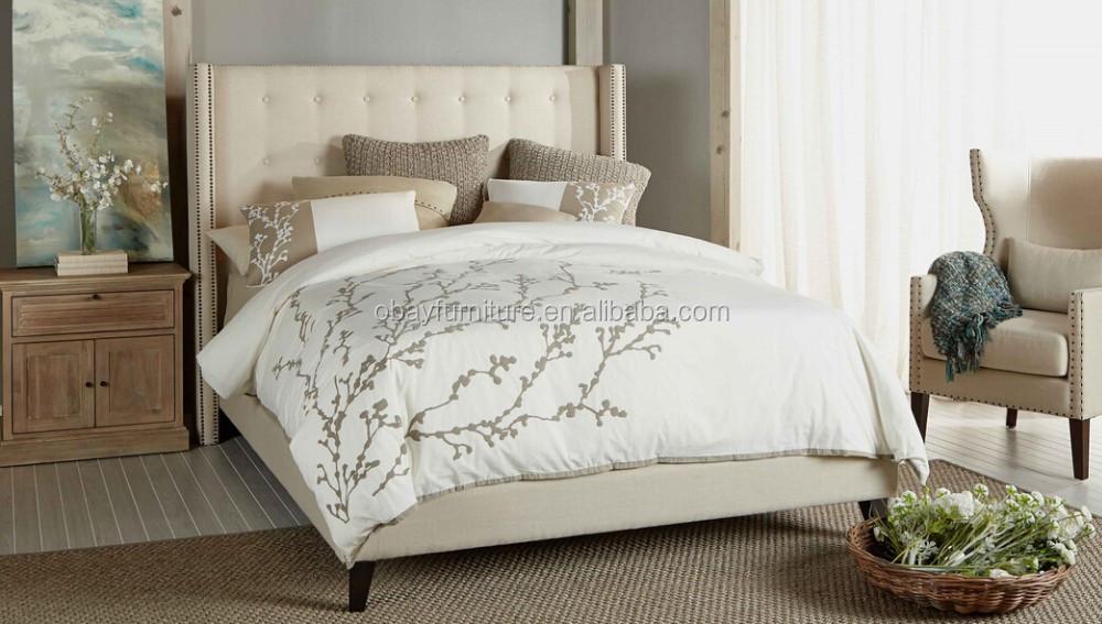 Moderna cama tapizada king size bed cabecera king bed for Camas king size modernas