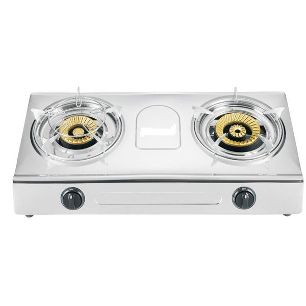 JP-GC226 Luxury heavy duty super flame two burner butterfly gas stove