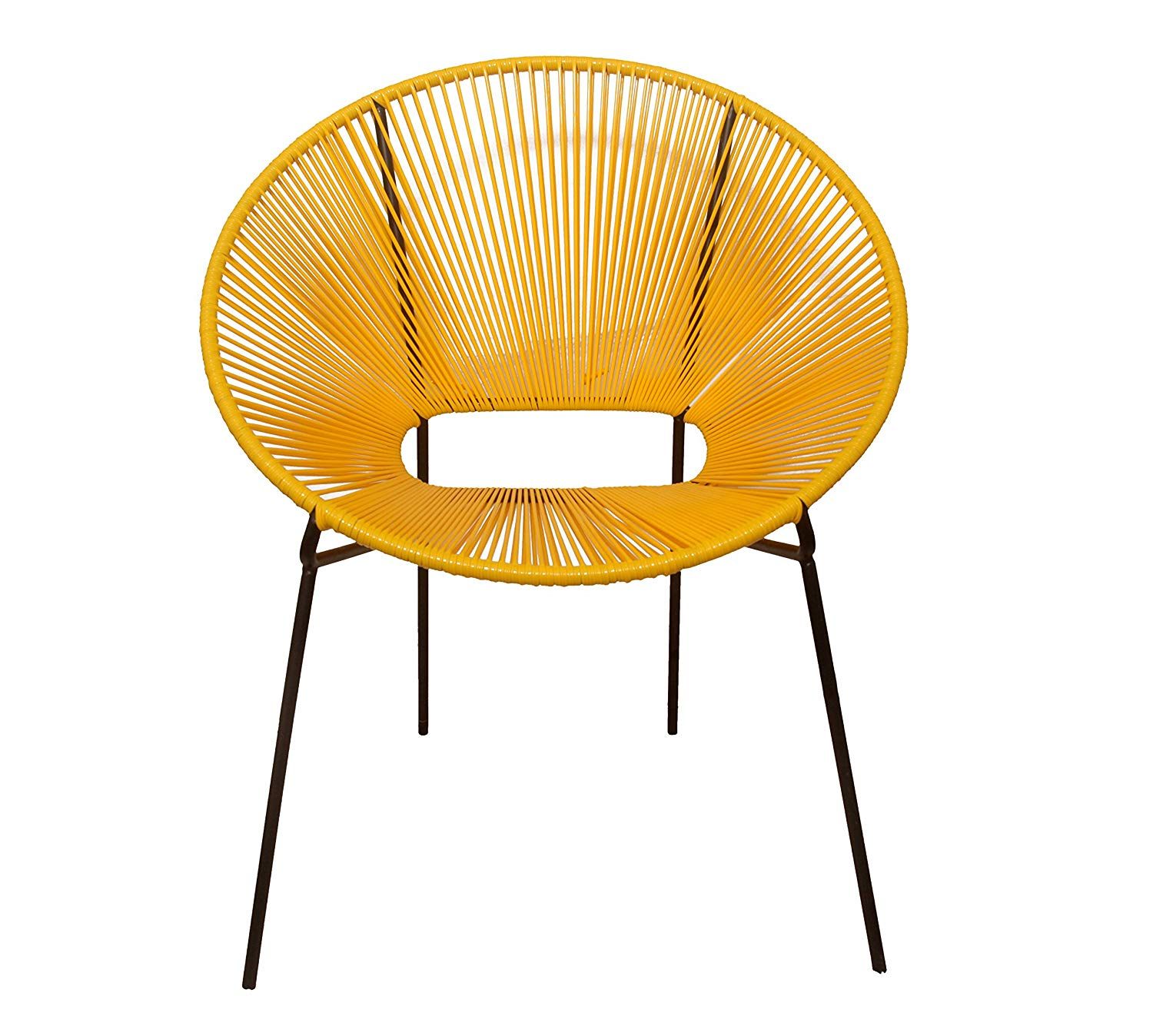 Madhu's COLLECTION Relax with Our take on The Classic Acapulco Lounge Chair (Yellow/Black). A Limited Edition MG Decor