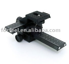 4 Way Focusing Rail Slider for Macro Bellow, Macro Lens