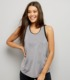 high quality body building plain grey sport vest gym women tank top