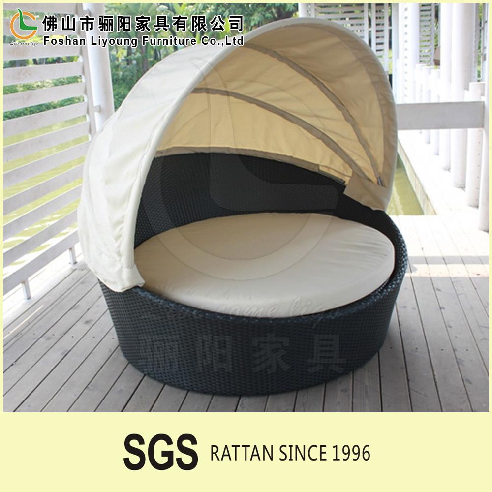 garden waterproof outdoor round pe plastic wicker patio. Black Bedroom Furniture Sets. Home Design Ideas