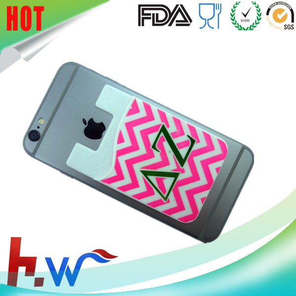 Factory price mobile phone smart wallet silicone card pocket