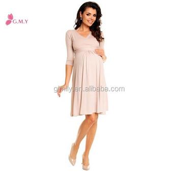 6195168f6 2017 todo el nuevo rayón plisado elegante vestidos de fiesta para las mujeres  embarazadas