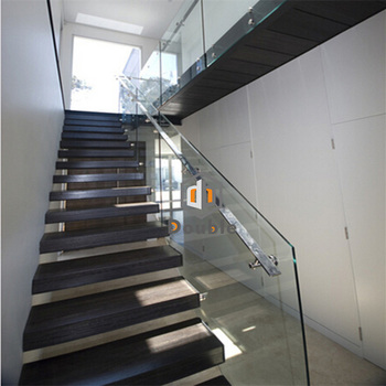 Modern Duplex House Stairs Wood Steps Floating Staircase