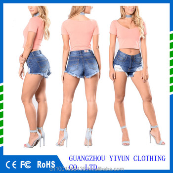 Taille Haute Jeans Courts Femmes Sexy Denim