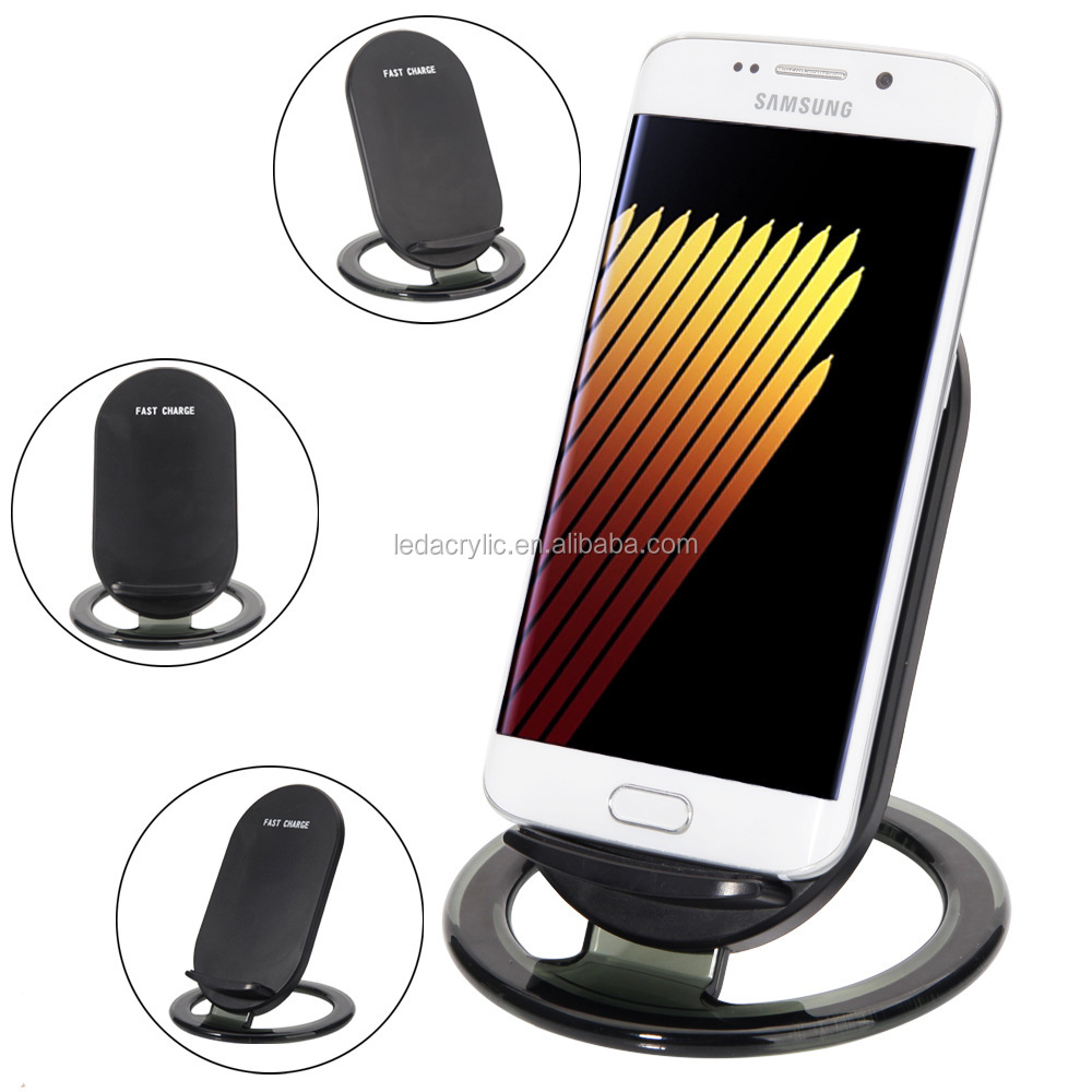 Qi Wireless Fast Charger Move Coil Adjustable Quick Charging Pad Stand for Phone
