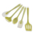 Kitchen utensils set silicone FDA kitchenware 5 sets Multi-function Cooking Scoop Shovel Green