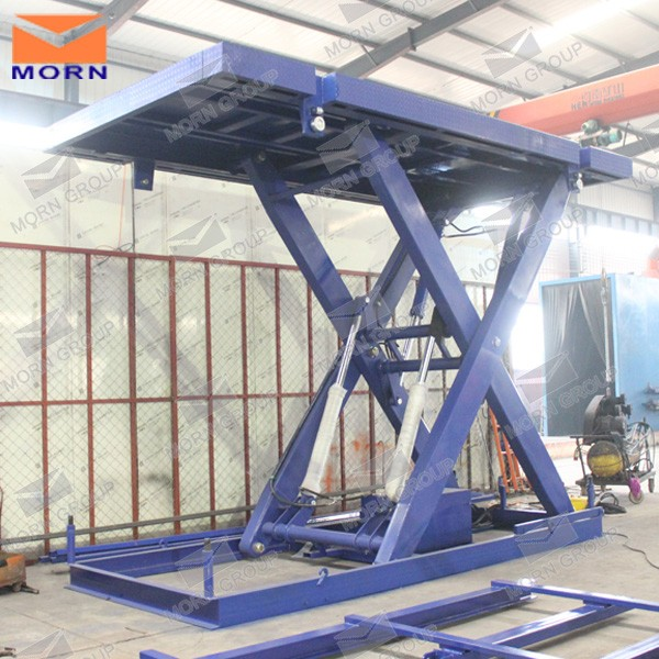 Hydraulic electric stationary scissor cargo lift ladder system good price