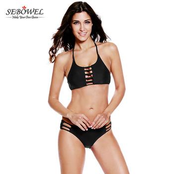4dfcadbe74 Vintage Type Cut Out Female Tankini Bikinis Woman Swimwear 2017 ...