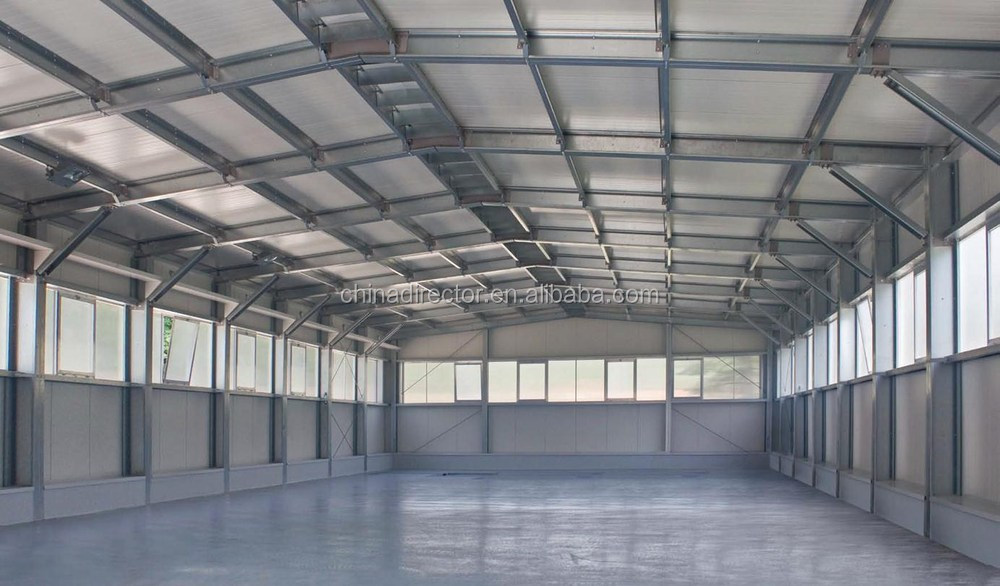 Steel Structure Prefabricated Factory Warehouse For Rice
