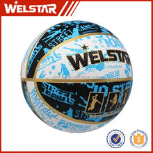 Official rubber basketball weight, Size 7 colorful rubber basketball