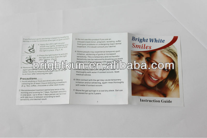 Fast effect Tooth Whitening Type professional home Teeth Whitening Kit 35% carbamide peroxide
