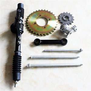 ATV steering box assembly with bolt and nuts