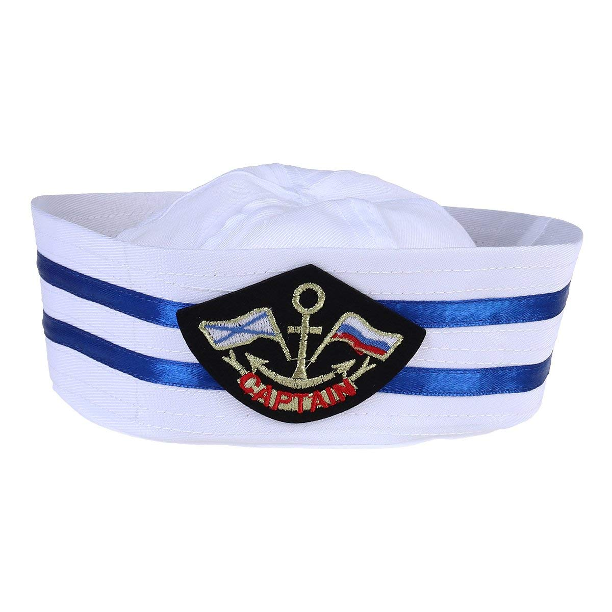 95a5fe9f5111b Get Quotations · BESTOYARD Captain Hat Cap Sailor Hat Skipper Navy Marine  Cap Kids Yacht Cap Hat For Costume