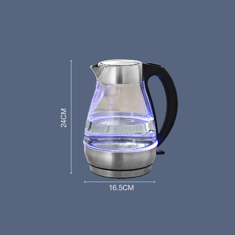 High borosilicate best plug in hot glass water kettle electric wholesale