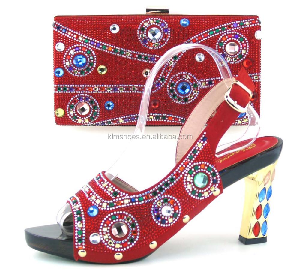Ing 43 Bottom Nigerian Red Dress Shoe Wedding Shoes For Set Hot Th16
