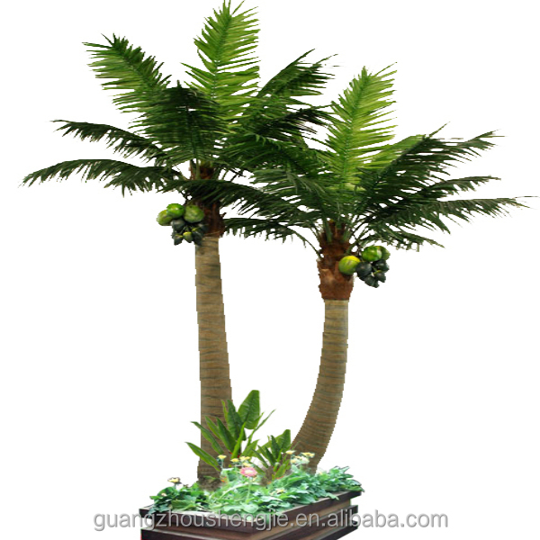 q080323 ornamental plants artificial coconut bonsai plastic palm