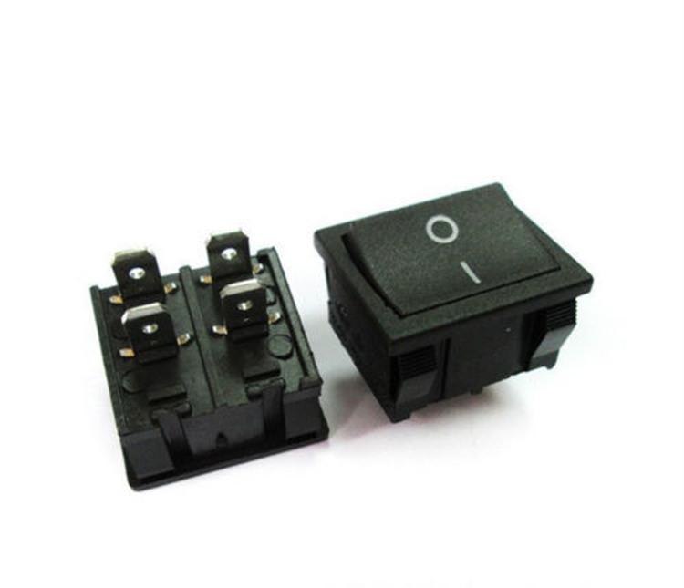 Dpst On-off Rocker Switch 2 Poles 4 Pin 19x22mm 16a 250vac T125/55 ...