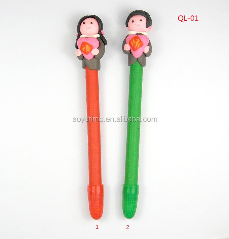 China Supplies Wedding Gift Polymer Caly Fimo Pens Bridegroom And ...