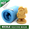 R1233 Nicole handmade 3d custom design Santa Clause Christmas silicone soap molds factory