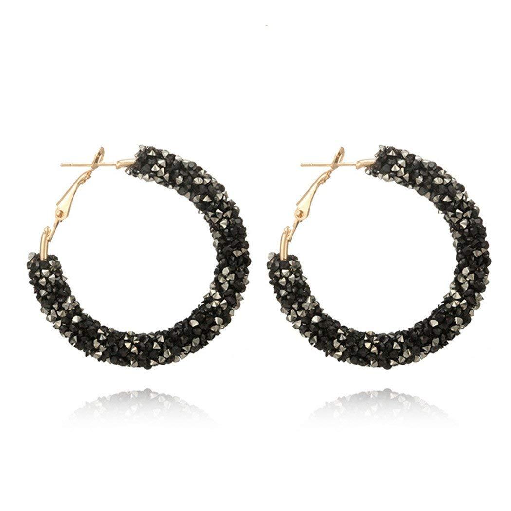 f21b114c6 Get Quotations · Myhouse Women Girls Circle Earrings Fashion Wild Crystal Rhinestone  Earrings Metal Circle Semicircular Earring Earrings Charms