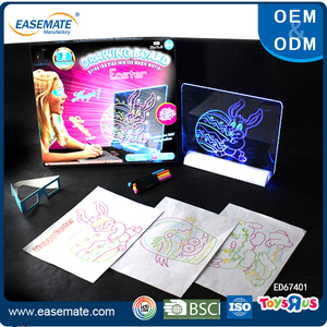 Magic 3D led drawing board 3D glow board with 3D Activity glasses