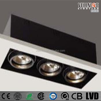 Frameless Ar111 3x50/75w G53 Recessed Ceiling Lighting Fixture ...