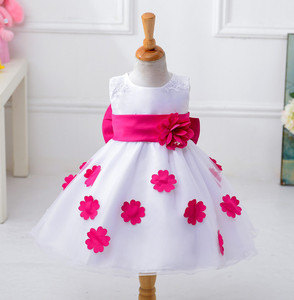 Kid Princess Flower Girl Dress Wedding Party Gown Butterfly Bow