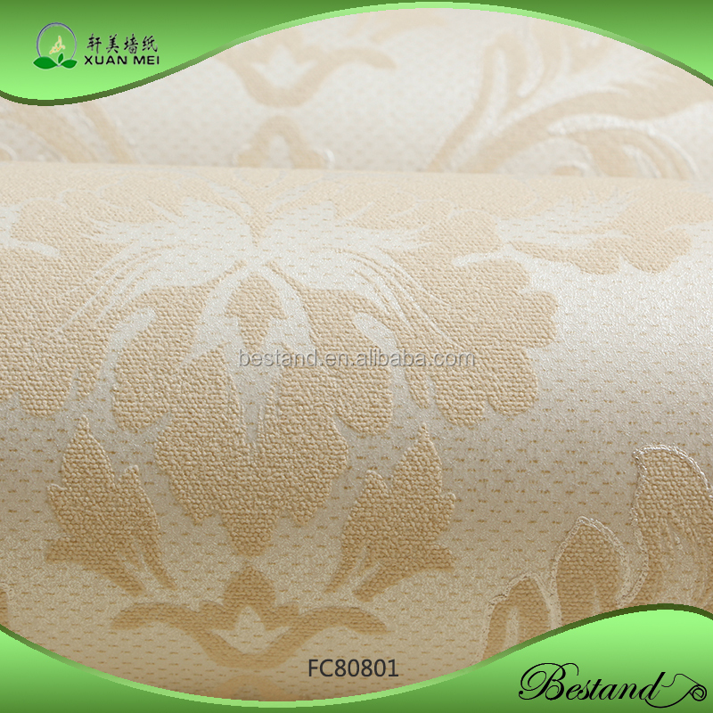 FC80801 XuanMei new design Wallpaper Damask Design Bedroom Hotel Decoration Wallpaper