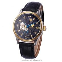 Luxury Brand Men's Automatic watch Black Leather Round Surface Calendar Outdoor Male's Casual Wrist Watches for drop shipping