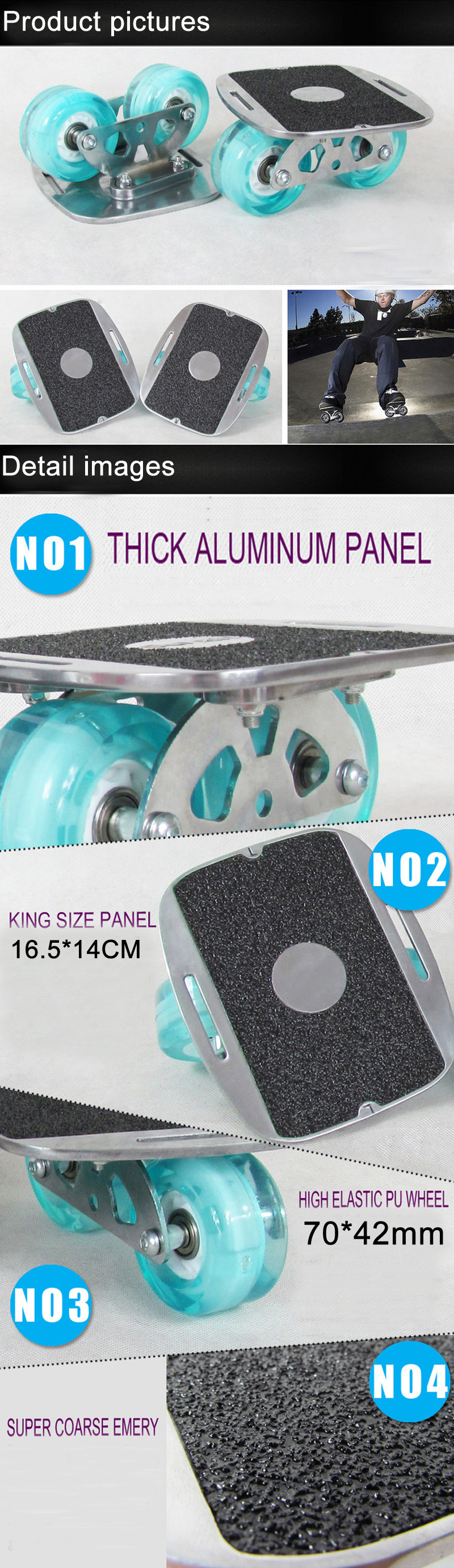 Portable Freeline Drift Skate Plate Anti-slip Board
