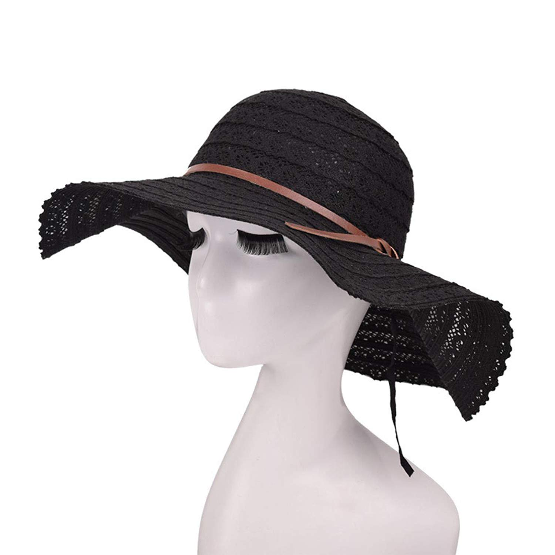 7bafa60a5bb Get Quotations · Summer Sun Hats for Women Lace Cotton Soft Big Fashion  Design Women Beach Sun Hat Foldable
