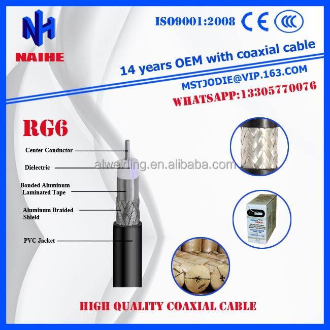 Coaxial Cable,Rg6 60%,Rg6 Cable For Catv/cctv 75 Ohm