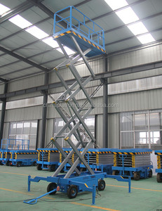 12m easy operate scissor lift hydraulic scissor lifts from Jinan