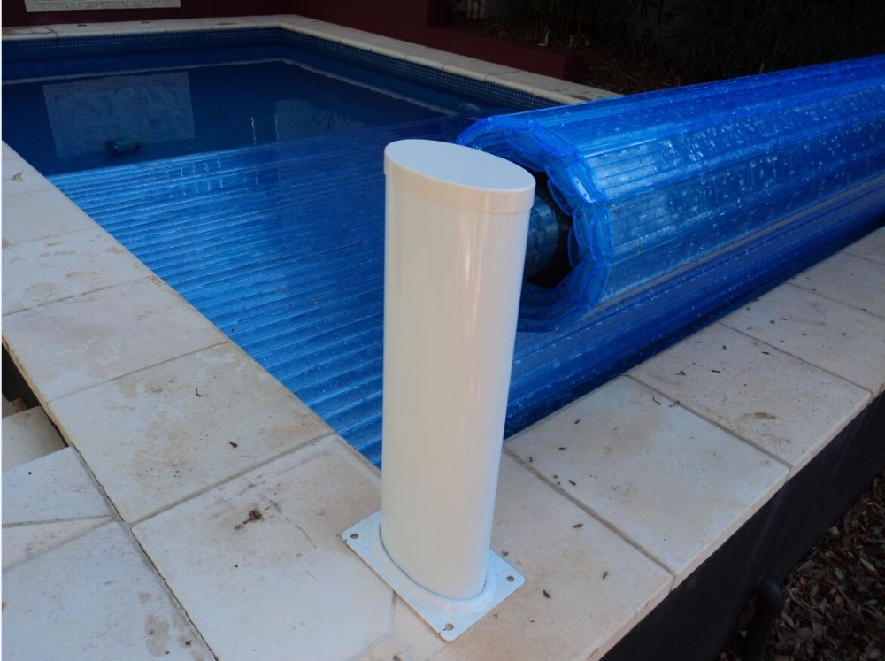 2017 new stand people electric swimming pool cover with PC slats