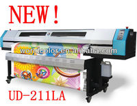 Universal digital Galaxy printer UD-211LA ,Eco solvent printer with flatbed /table(1440dpi, dx5 head)