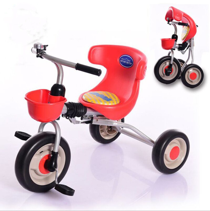 Export to Korea Free-Installation Folding Baby Tricycle With CE Certificate / Lovely Kids 3 Wheel Tricycle Children Bicycle