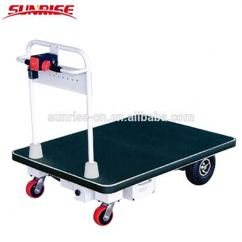 400 KG capacity electric platform trolley warehouse handling equipment hand truck