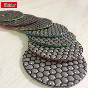 high quality diamond stone dry polishing pads for hand machine