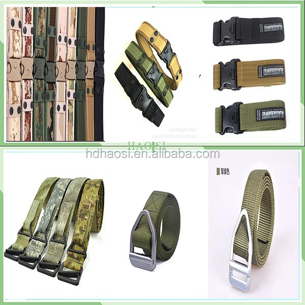 Adjustable Survival Tactical Canvas Belt High Quality Police Duty Utility Belt Army Military Combat Belt