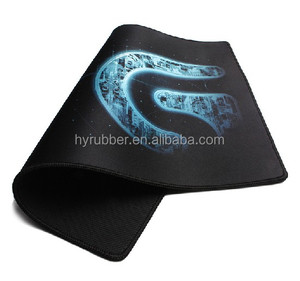Guangdong factory gaming high quality mouse mat with black rubber