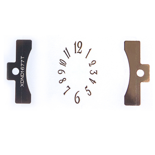 Watch Dial Index Metal Electroforming Foil Self Adhesive Metal Sticker for watch dial