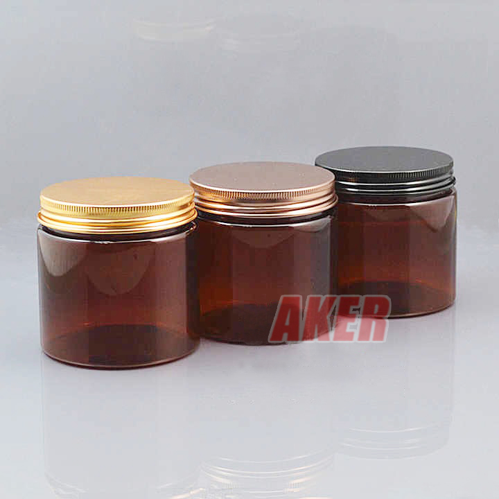 high quality Amber cosmetic plastic jar and bottle 50ml face mask jar bottle