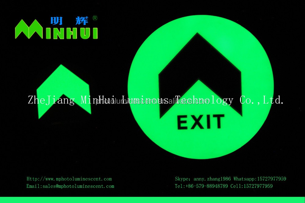 glow IMO signs/photoluminescent IMO symbols