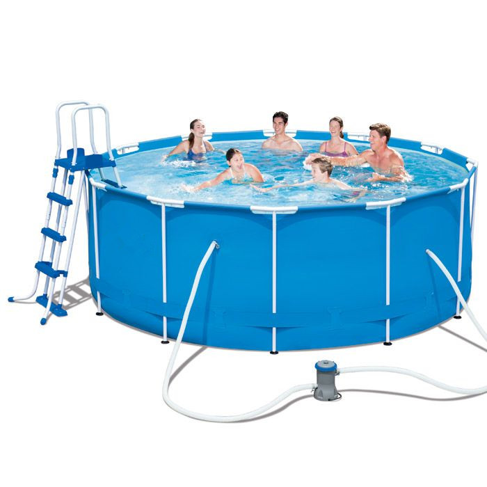 Bestway 56438 Easy Set Above Ground Poolmetal Frame Swimming Pool Large  Water Capacity Pool - Buy Plastic Water Pool,Easy Set Swimming Pool,Metal  ...